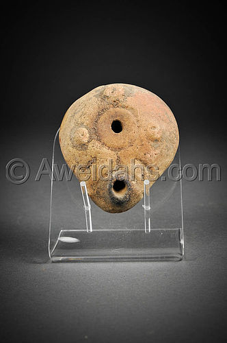 Ancient Greek-Hellenistic set (Oil lamp and oil filler)