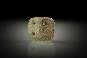 Roman steatite gaming die, 100 AD