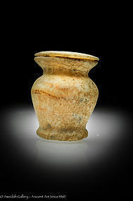 Egyptian alabaster kohl pot, 1938 -1700 BC