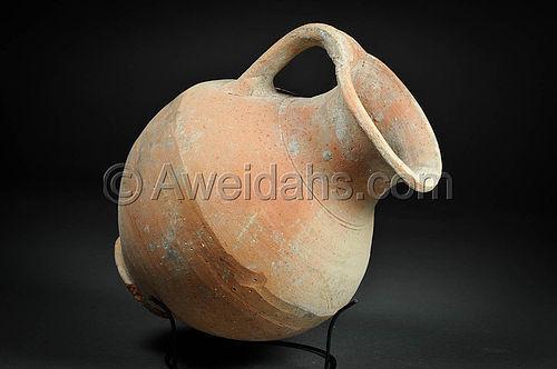 Greek-Hellenistic pottery perfume jar, 330 - 100 BC