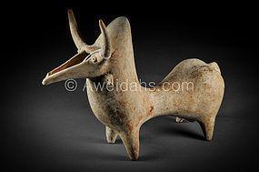 An Amlash terracotta hump-backed bull rython