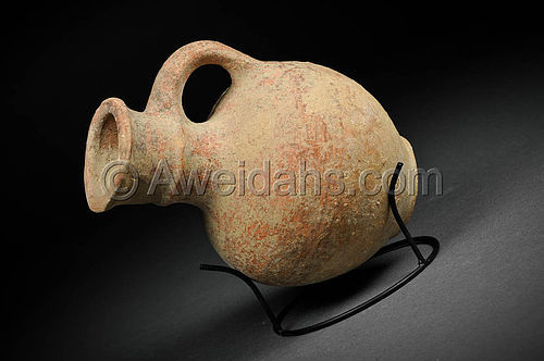 From Jerusalem, Iron Age Pottery Oil Juglet, 1000 BC