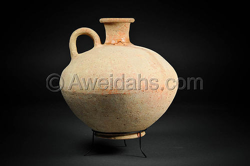Rare Late Bronze Highly Painted Wine Pitcher, 1550 BC